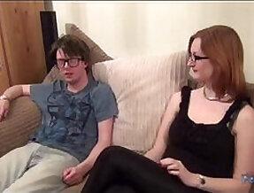 Redhead banged by a nerd