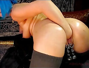 Daddys lil whore anal dp and fisting