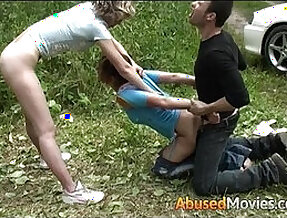 Auburn teen babe fuck in the great outdoors