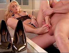 Hungarian milf christina shine wanks her boyfriends boner with her toes