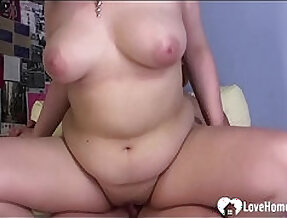 Chubby Japanese moms best friend likes to get fucked hard by me