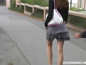 CZECH AMATEUR teen lesbian teen GIRLS SHARKED ON THE STREETS