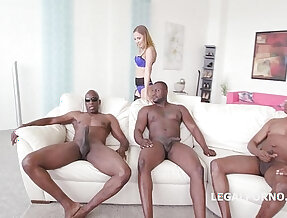 Black Buster, Mike Chapman CO take care of Lexy Star for hard doggy style fucking and DP