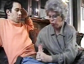 granny and grandson fuck her hard
