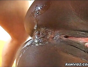 Busty Ebony Gets Ass Drilled