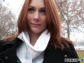 Redhead girl Alice March gets banged for some cash