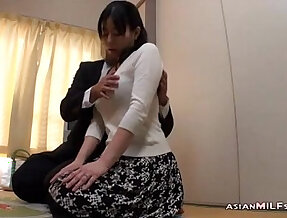 Milf Getting Her Tits Rubbed Nipples Sucked Giving Blowjob and gets butt Fucked By Man On The