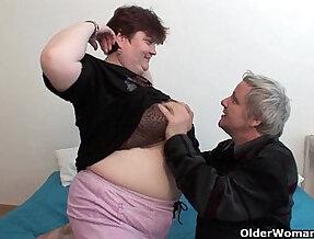 BBW grandma still enjoys grandpa