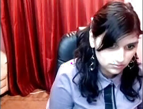Hot College Girl masturbating on Webcam Goes Nude