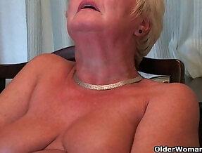 British and curvy grandma Sandie