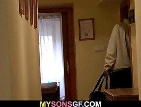 Smart dad seduces his sons GF into forbidden sex