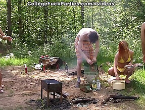 Real college fucking by the lake scene