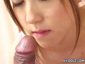 Adorable Asian cuttie pie sucking a fat dick in pov