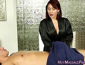 Jizzy mouth masseuse suck