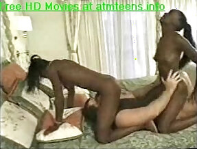 Two ebony babes getting ass fucked hard