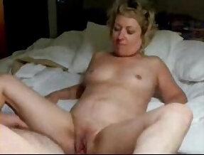 Old pervert wife masturbating in front of me. Amateur older