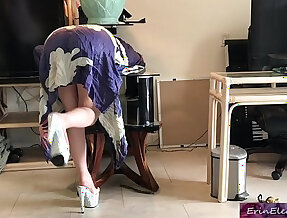 Stepmom gets stuck while sneaking out and fucks stepson to get free erin electra