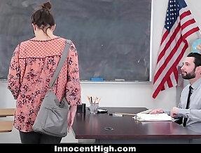 InnocentHigh SchoolGirl Fucks Her Way Out Of Trouble