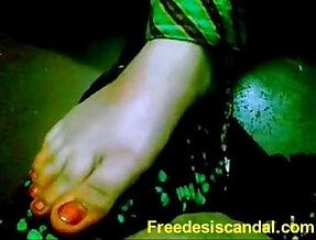 Hot Footjob By Desi indian Girl